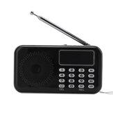 Mini Portable LCD Digital FM Radio Speaker USB SD TF Card MP3 Music Player Elderly