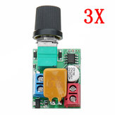 3 pz DC ​​5V A 35V 5A Mini Motor PWM Regolatore di velocità Ultra Small LED Dimmer Speed ​​Switch Governor