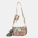 Kvinder bærer mønster afslappet 3 pc'er tegnebog crossbody taske