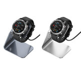 Bakeey Aluminum Alloy Charging Base Fast Charge Chip Protection 360 Rotated Smart Watch Charger For Garmin F745/Venu Sq/Fenix 6