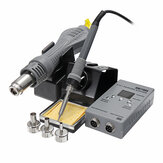 YAOGONG 8878D 2 In 1 SMD Rework Soldering Station Hot Air Gun Welding Solder Iron Repair Tool