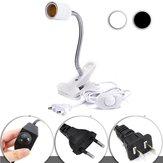 40 CM E27 Flexível Pet Heat Light Bulb Adapter Suporte Da Lâmpada Tomada com Interruptor Clipe Dimming UE US Plug