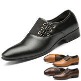 Herren Casual Office Formale Arbeit Loafer Pointed Toe Business Kleid Rutschfeste Schuhe