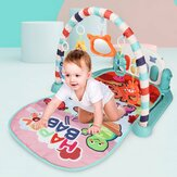 76*56*43CM 2 IN 1 Multi-functional Baby Gym with Play Mat Keyboard Soft Light Rattle Toys for Baby Gift