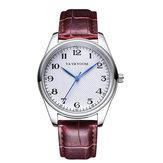 VAVAVOOMVA-203Correade cuero Business Style Reloj de cuarzo