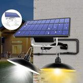 Çift Kafa LED Solar Işık Retro Kolye Outdoor Ev IP65 Lamba Kampçılık Ev Bahçe Yard için