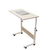80cm / 60cmx40cm Mesa de escritorio móvil con ruedas para computadora portátil Soporte de cabecera de altura ajustable
