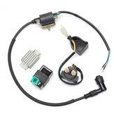Cewka zapłonowa + 5-stykowy regulator CDI + + elektrozawór dla wersji 110cc 125cc Quad Dirt Bike ATV