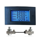 WZ-DM100 Voltmeter Ammeter 100V 100A Power Meter Electric Energy Meter Voltage Alarm with 75mV Shunt LCD Display Screen Circuit Monitor