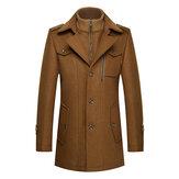 अद्वितीय कॉलर गर्म ऊन ट्रेंच फैशन जिपर बटन जैकेट