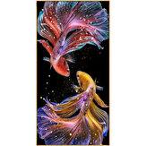 DIY 5D алмазная живопись кои золотая рыбка висячие картины ручной работы гостиная крыльцо украшения подарки рисунок для детей Для взрослых