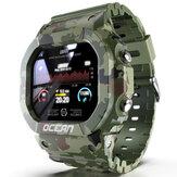 LOKMAT Ocean IP68 Wodoodporny tryb wielu sportów Tracker Zewnętrzna opaska na rękę Monitor pracy serca Inteligentny zegarek w stylu wojskowym