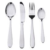4 Pcs En Acier Inoxydable Vaisselle Vaisselle Couverts Fourchette Cuillères Vaisselle Ensemble pour Cuisine Dîner Table Outil