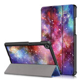 Tri-Fold Printing Tablet Case Cover for Lenovo M8 - Galactics