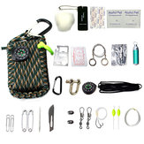 22 In1 Multifunction Outdoor Fishing Survival Kit Parachute Cord First Aid Emergency Survival Tools