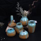 Zakkz Glasur Keramik Vase Ornamente Handmade Aroma Flasche Blumenschmuck Keramik Dekor Geschenk