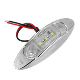 10Pcs White 3LED 24V Side Marker Indicator Light Clearance Lamp Truck Trailer Lorry Van