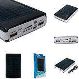 10000mAh Dual USB Solar Charger External Battery Portable Power Bank For Cell Phone