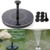 7v le pouvoir solaire flottant brushless l'eau pompent la fontaine de submersible de paysage de jardin
