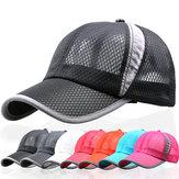 Üniseks Erkekler Kadın Mesh Nefes Yaz Şapka Spor Ayarlanabilir Toka Beyzbol Şapkası