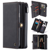 Bakeey Retro Business Flip with Multi-Card Slots Zipper Wallet Shockproof Detchable PU Leather Protective Case for iPhone 7 / 8 / SE 2020