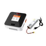 ISDT Q6 Nano BattGo 200W 8A Lipo Batterie chargeur couleur blanche avec adaptateur d'alimentation LANTIAN 24V 16.6A 400W