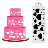 Heart Side Cake Stencil Fondant Ontwerper Decoratie Craft Cookie Baking Tool