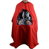 Salon Barber Hair Cutting Gown Cape With Viewing Window Hairdresser Wrap Apron