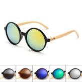 Unisex retro vintage UV400 gafas de sol artesanales de bambú pierna sombras gafas gafas