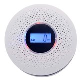 LCD CO-Rauchmelder Live Human Voice Alarm Kohlenmonoxid Lecksensor Hohe Zuverlässigkeit