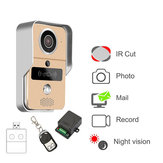 KONX 720P Smart Home WiFi video deurtelefoon intercom deurbel met RFTD Card kijkgaatje Camera