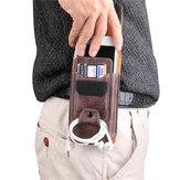 متعددة الأحجام الرجال بو الجلود الصلبة هاتف محفظة حقيبة الخصر