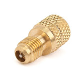 A/C R134a Brass Adapter Fitting 1/4 Inch Male To 1/2 Inch Female with Valve Core