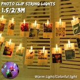 Romantisch 20.05.30 LED 1.5 / 2/3M LED Fotoclip String Licht Fotoclips für Weihnachten Hochzeit Wohnheim Schlafzimmer Dekor