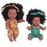 30CM 12 дюймов Cute Soft Силиконовый Реалистичные реалистичные руки-ноги Ноги подвижные Reborn African Baby Кукла