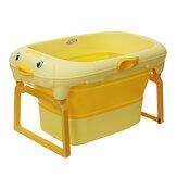Portable Folding Bathtub Bath Barrel Soaking Tub Large Capacity For Newborn Baby