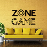 Väggrum Decor Art Vinyl Klistermärke Väggmålning Dekal Game Zone Heminredning Kids Room Wall Stickers Stor Stor Hem Stuga Kök Decor Wall Stickers