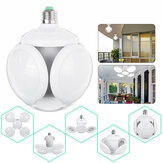4+1 E27 LED Football Garage Light Bulb UFO Shape Industrial Indoor Foldable Home Lamp 85-265V