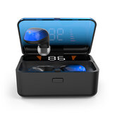 ES01 TWS bluetooth 5.0 Touch Control Earphone DSP Noise Reduction Bilateral Calls Waterproof HIFI Sport Headphone with LED Display Charging Box