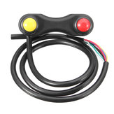 22mm 3 Buttons 7Wires Aluminum Alloy Motorcycle Motorbike LED Fog Light Handlebar Switch