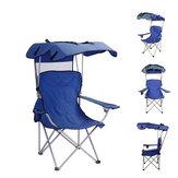 Chaise inclinable pliante IPRee® Camping Portable pique-nique barbecue tabouret siège de pêche avec abat-jour et porte-gobelet pare-soleil extérieur