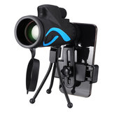 40x60 Monocular HD Optic BAK4 Day Night Vision Telescope With Tripod Phone Holder Outdoor Camping