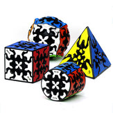 Qiyi Gear 3x3x3 Magic Cube Piramide Cilinder Bol Speed Gear Cube s Professionele Cubo Magico Anti stress Speelgoed