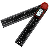 2 In 1 Folding Digital LCD Angle Finder Ruler Stainless Steel Ruler 360 Degree Protractor