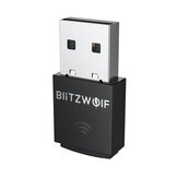 BlitzWolf®BW-NET5 Mini 300M USB WiFi Adapter 2.4G Wireless Network Card External Wifi Dongle Support Soft-AP