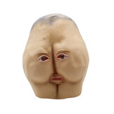 Latex Butt Head Máscara Adulto Ass Halloween Party Costume Acessório Prop Cosplay Máscara