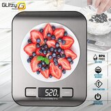 5/10 kg-os digitális többfunkciós élelmiszer-konyhai mérleg rozsdamentes acél ujjlenyomat-biztos kivitelű platform LCD kijelzős sütési skálával a sütéshez
