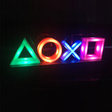 USB Neon Light Game Icon Lamp Voice Control Dimmable Bar Club KTV Wall Bar Atmosphere Decorative Commercial Lighting for PS4