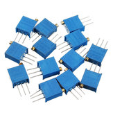 100R-1M 65pcs 13 Values 3296 Potentiometer Pack Adjustable Resistance Pack Component Pack 5pcs Each Value
