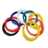Excellway® 1007 Fil 10 Mètres 24AWG 1.4mm PVC Électronique Câble Isolé LED Fil Pour DIY